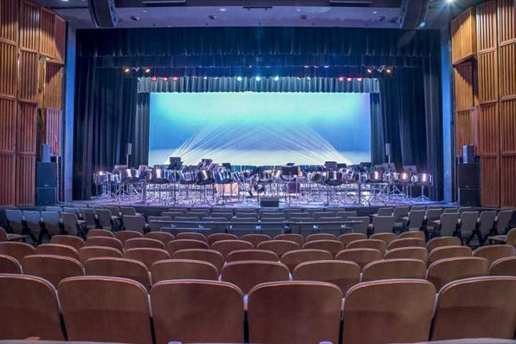 JVD theater - empty seating